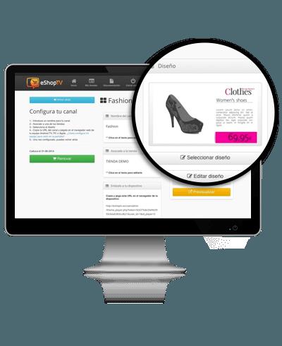 Elige los productos que quieres promocionar de tu tienda online